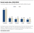 Social media sites in 2013 graph